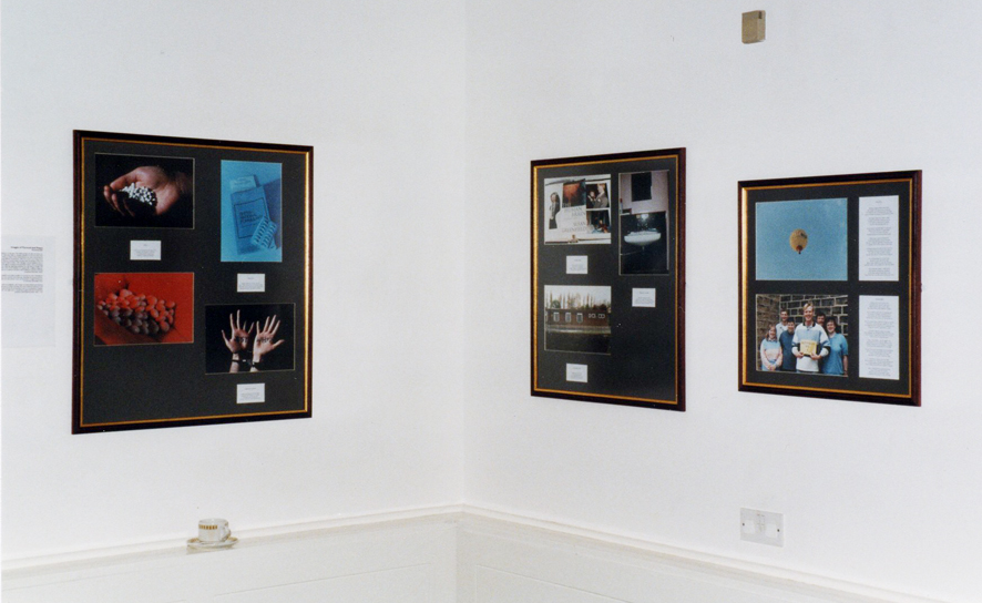 Photograph of artwork in exhibition by Concern for Mental Health photography group.