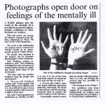 Press cutting from Huddersfield Evening News for opening of C.M.H. exhibition